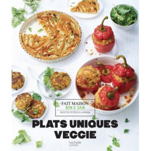 Livre de recettes plats uniques veggie, chez Hachette
