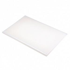 Planche à Découper 40x30 cm H 2cm Polyéthylène Blanc