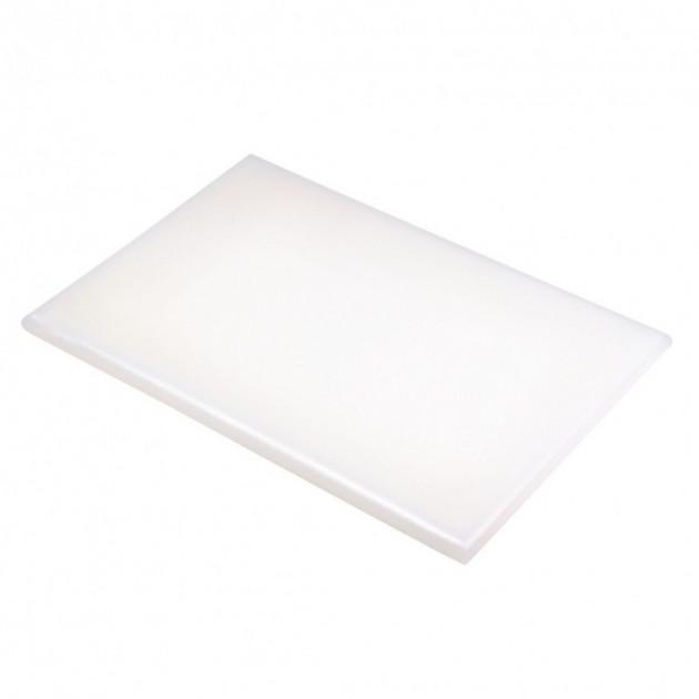Planche a Decouper 40x30 cm H 2cm Polyethylene Blanc