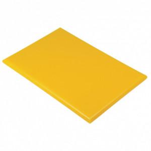 Planche à Découper 40x30 cm H 2cm Polyéthylène Jaune