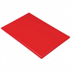Planche à Découper 60x40 cm H 2cm Polyéthylène Rouge