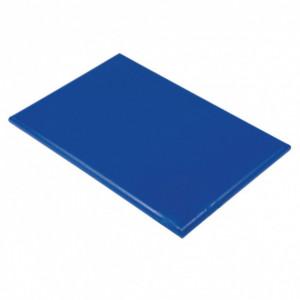 Planche à Découper 60x40 cm H 2cm Polyéthylène Bleu