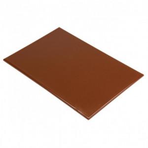 Planche à Découper 60x40 cm H 2cm Polyéthylène Marron