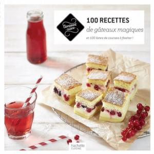 Livre de cuisine 100 recettes de gâteaux magiques, chez Hachette