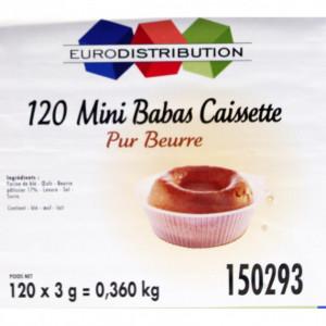 Mini Savarin Baba en caissette x 120