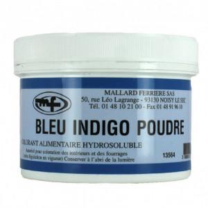 Colorant alimentaire Bleu Indigo E132 Poudre Hydrosoluble 100g