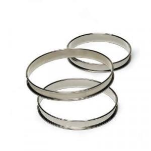Cercle à Tarte Inox 20 cm x H 2,7 cm Mallard Ferrière