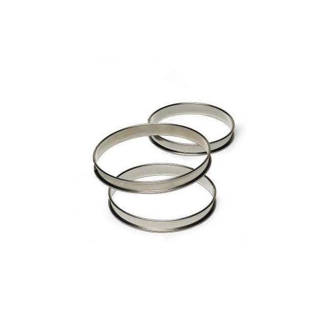 Cercle a Tarte Inox 20 cm x H 2.7 cm Mallard Ferriere