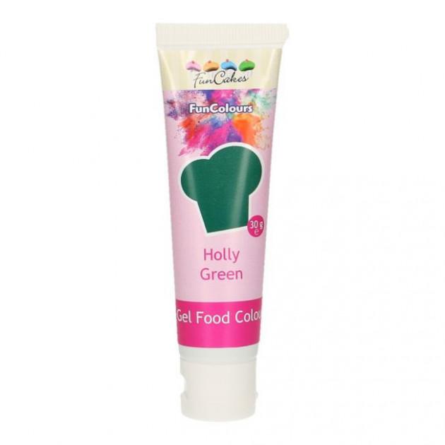 Colorant gel alimentaire Vert houx FunCakes 30 g