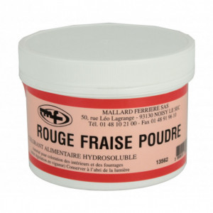 Colorant alimentaire Rouge Fraise E129 Poudre Hydrosoluble 50g