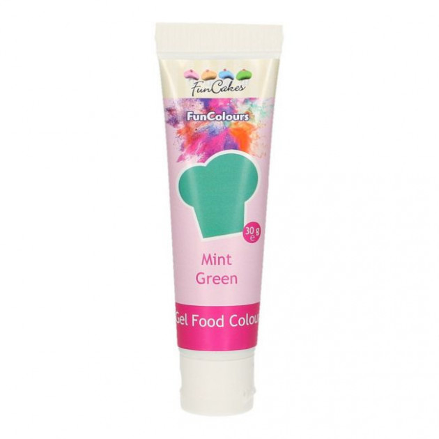 Colorant gel alimentaire Vert menthe FunCakes 30 g