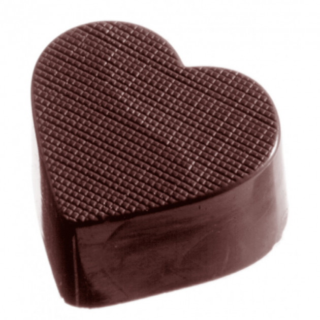 """Moule a chocolat CÅ""""ur a Carreaux (x32) Chocolate World"""
