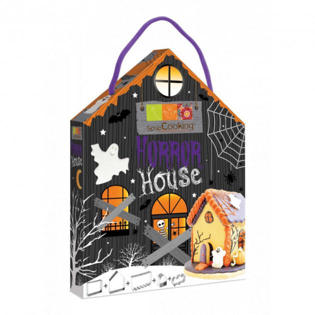 Kit 5 emporte-pieces inox Halloween Horror House ScrapCooking