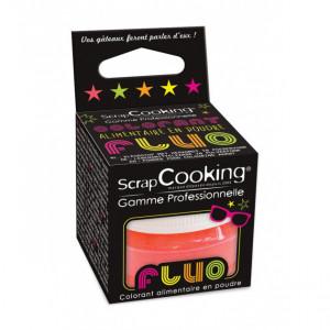 Colorant Alimentaire en Poudre Fluo Corail 3g ScrapCooking