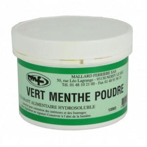Colorant alimentaire Vert Menthe E102/E131 Poudre Hydrosoluble 100g