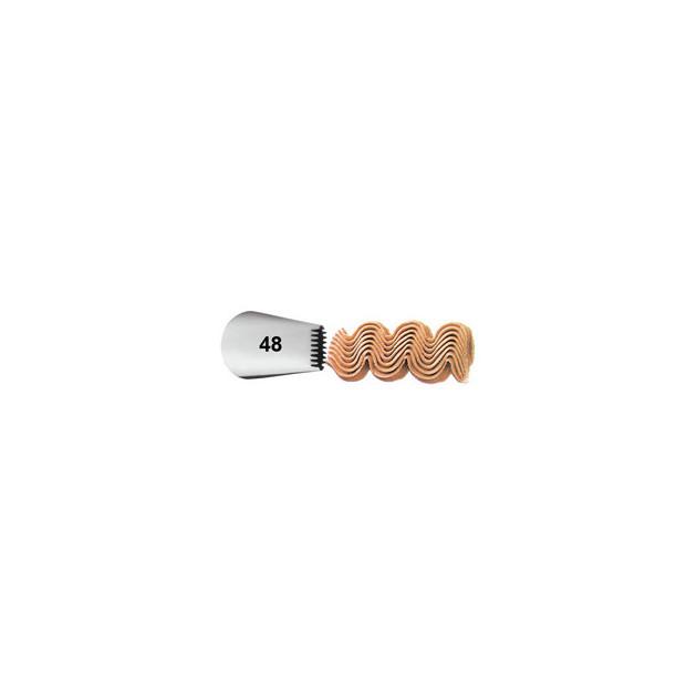 Douille patissiere effet tresse Wilton (n°48) Inox