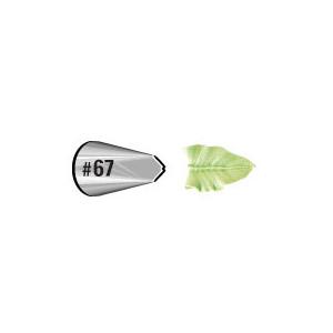 Douille pâtissière effet feuille Wilton (n°67) Inox