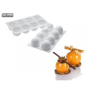 Moule Silicone 8 Truffes Ø 5,2 cm Silikomart Professional