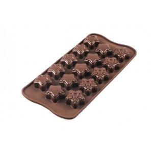 Moule à Chocolat 15 Étoiles de Noël Easy Choc - Silicone Spécial Chocolat