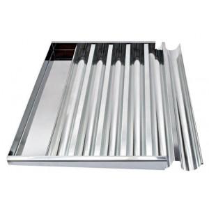 Plaque à Bûchettes 6 Gouttières Fer Blanc 60x40 cm