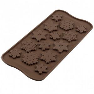 Moule à Chocolat 14 Flocons Easy Choc - Silicone Spécial Chocolat