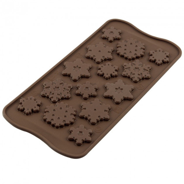 Moule a Chocolat 14 Flocons Easy Choc - Silicone Special Chocolat