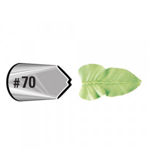 Douille pâtissière effet feuille Wilton (n°70) Inox