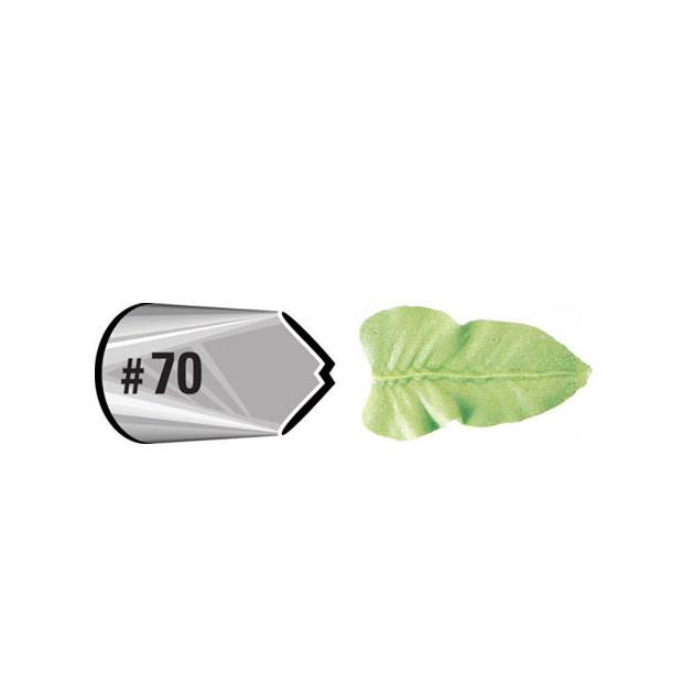 Douille patissiere effet feuille Wilton (n°70) Inox