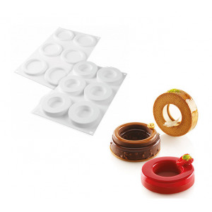 Moule Silicone 6 Anneaux Ring 79 ml Silikomart Professional