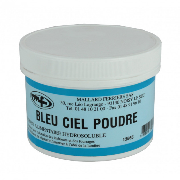 Colorant alimentaire Bleu Ciel E133 Poudre Hydrosoluble 100g