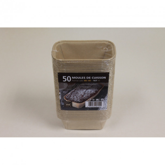 Moule de cuisson papier cake 80 mm - 167 ml Bio Food Pack
