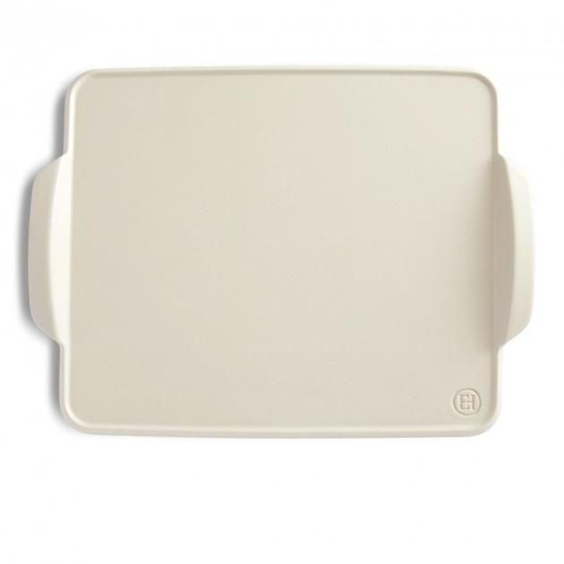 Plat Rectangulaire en Ceramique 42.5x31.5 cm Lin Emile Henry