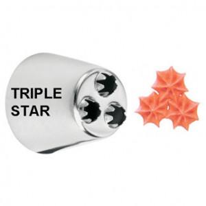 Douille pâtissière triple étoile Wilton (n°2010) Inox