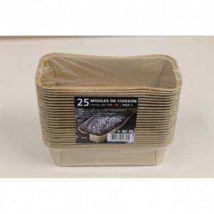 Moule de cuisson papier cake 199 mm - 1033 ml Bio Food Pack