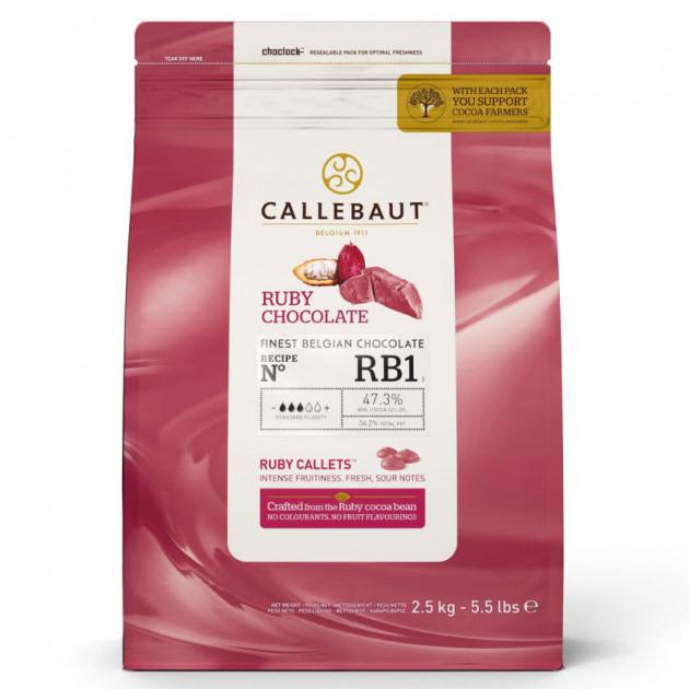 Chocolat Ruby RB1 47.3% 2.5 kg Callebaut