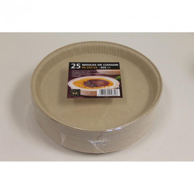 Moule de cuisson papier 247 mm - 835 ml Bio Food Pack
