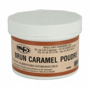 Colorant alimentaire Marron Brun Caramel E102/E129/E151 Poudre Hydrosoluble 100g
