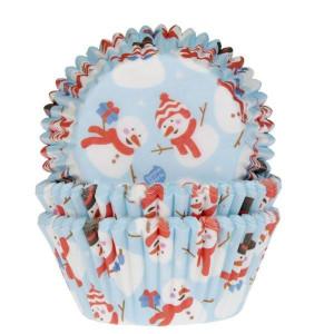 Caissette Cupcake Bonhomme de Neige x50