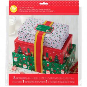 Lot 3 Boîtes à Gâteaux Noël Wilton