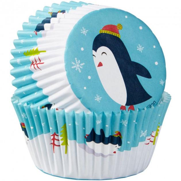 Caissette Cupcake Pingouin x75 Wilton