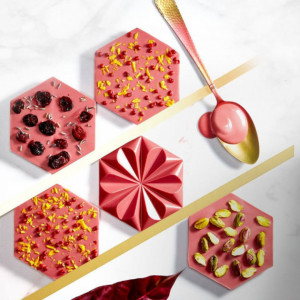 Moule Chocolat Tablette Ruby 103,5 mm (x2) Chocolate World