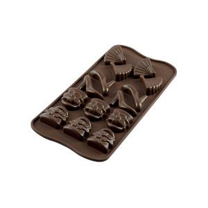 Moule à Chocolat 14 Sujets Fashion Easy Choc - Silicone Spécial Chocolat