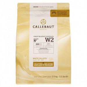Chocolat Blanc W2 28% pistoles 2,5 kg Callebaut