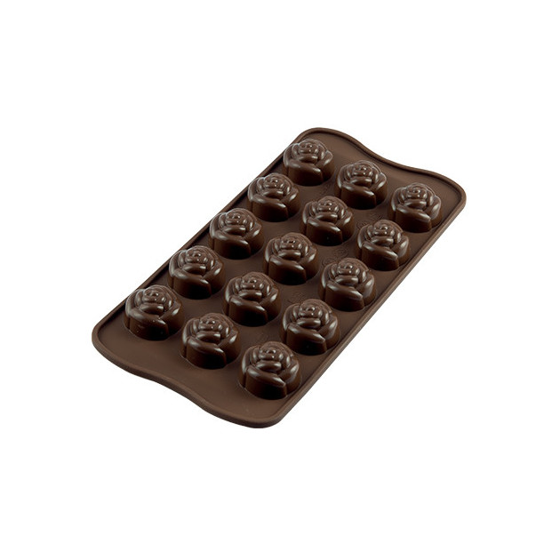 Moule a Chocolat 15 Roses Easy Choc - Silicone Special Chocolat