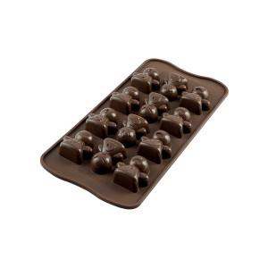 Moule à Chocolat 12 Bonshommes Easy Choc - Silicone Spécial Chocolat