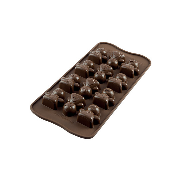 Moule a Chocolat 12 Bonshommes Easy Choc - Silicone Special Chocolat