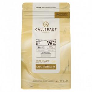Chocolat Blanc W2 28% pistoles 1 kg Callebaut