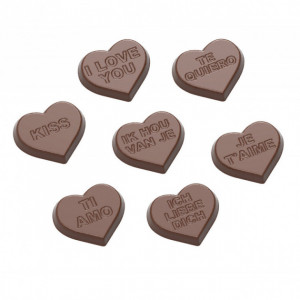 Moule Chocolat Coeur Je t'aime 30 mm (x21) Chocolate World