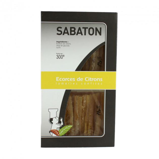 Ecorces Citron Confit en Lamelles 150 g (x2) Sabaton