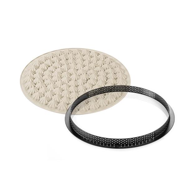 Moule en Silicone+Cercle Tarte Meringue Silikomart 3D Design